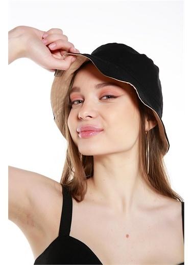 Y-London 13614 Çift Taraflı Tas Şapka Siyah